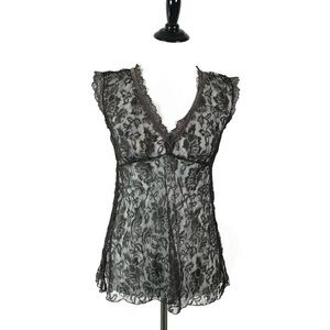 DKNY Jeans See Though Floral lace blouse top